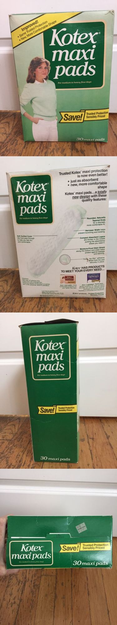 Sanitary Napkins: Box Of Vintage Kotex Maxi Pads 1984 28 30 Count Medium To Heavy Flow -> BUY IT NOW ONLY: $69.99 on eBay!