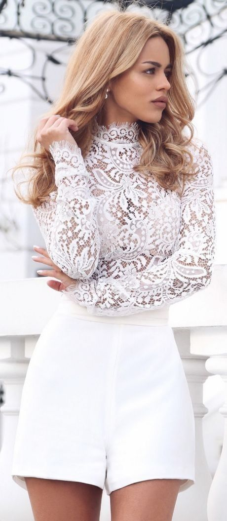 #summer #white #outfits | Summer Evening's