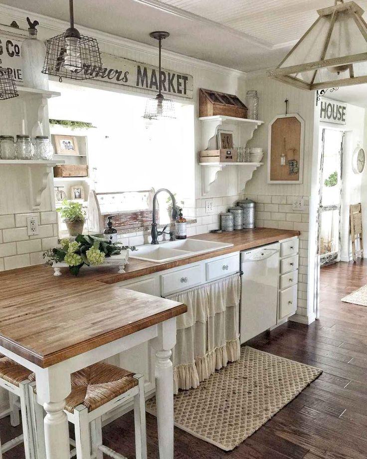 66 Favourite Farmhouse Kitchen Curtains Decor Ideas