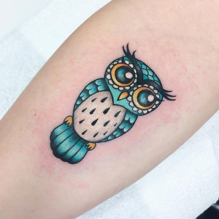 Cute owl tattoo, I want this one so much