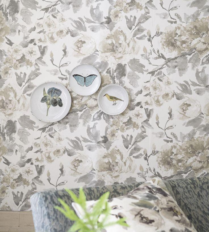 Interior Design Trend, Painterly Florals | Shanghai Garden Wallpaper by Designers Guild | Jane Clayton