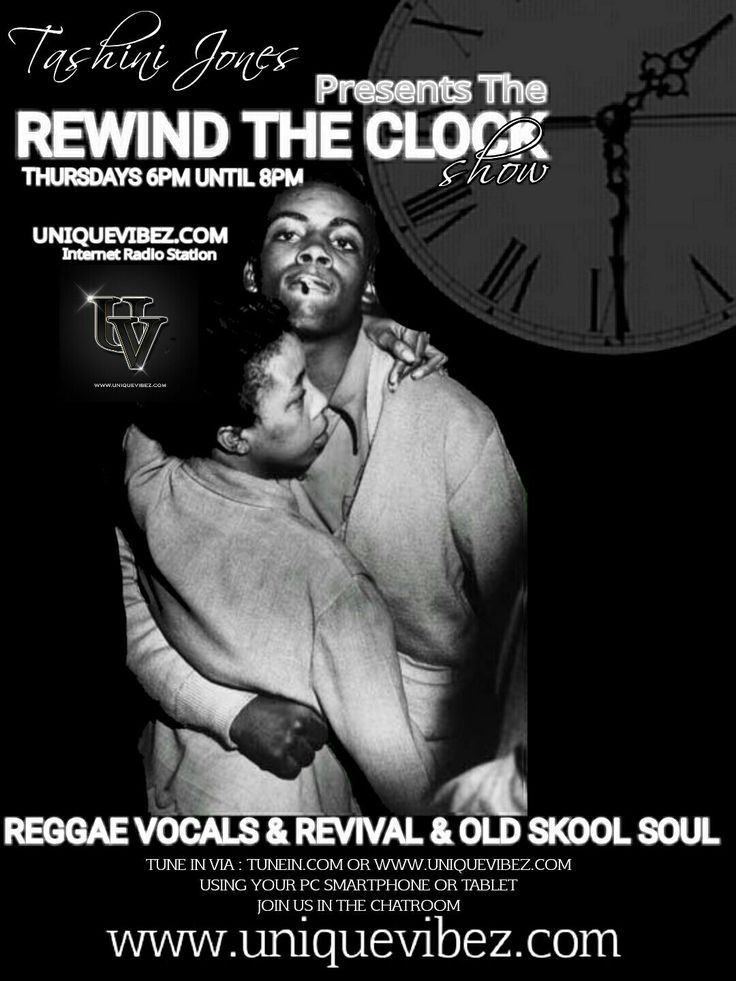 Join Tashini Jones every Thursday evening 6-8pm for her Rewind The Clock show playing the tunes from yesteryear: reggae, reggae revival, lovers rock also with a touch of soul.