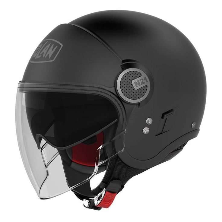 Nolan N21V (With External Visor) Flat Black | The Helmet Warehouse
