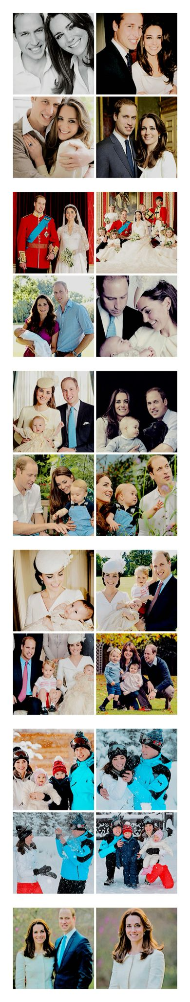Official Photos of The Duke and Duchess of Cambridge and their children Prince George and Princess Charlotte