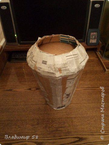 Можно так делать формы для плетения ваз