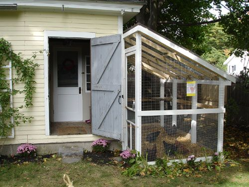 126 best chicken wire projects images on pinterest for Small chicken coop with run