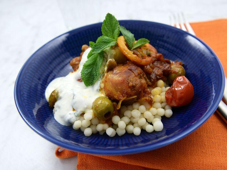 Marockansk kyckling med citron och mynta | Recept från Köket.se