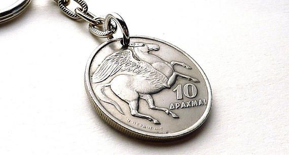 Greek Keychain Horse keychain Pegasus Phoenix Mythology