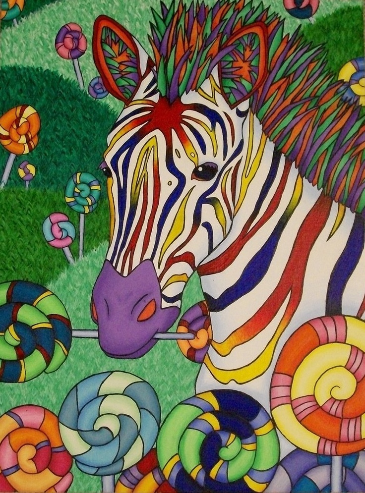Открытка зебра разноцветная, картинки верующие евреи