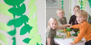 Sving deg i en liane - http://www.dansukker.no/no/inspirasjon/barneselskap/jungelbursdag/aktiviteter-og-leker.aspx #barneselskap #lek
