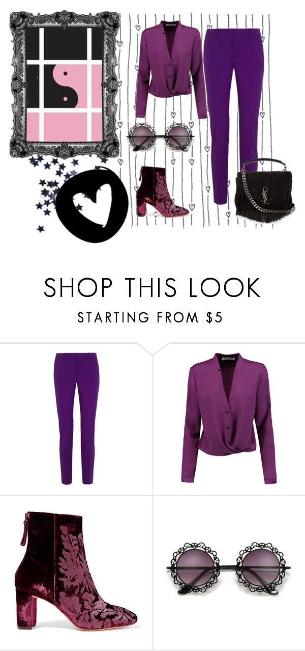 """Untitled #136"" by vendys on Polyvore featuring Gucci, Halston Heritage, Alexandre Birman and Yves Saint Laurent"