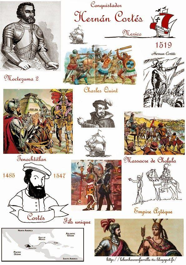 Le bonheur en famille: Les explorateurs, Hernan Cortés...