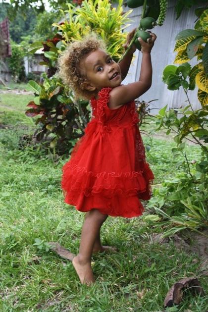 Black Fijian girl