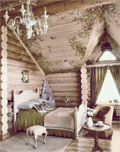 Quarto vintage <3: Decor, Ideas, Dreams, House, Logs Cabins, Fairytale, Girls Rooms, Cabins Bedrooms, Fairies Tales
