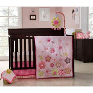 Graco - Crib Bedding 4-Piece Set, Daisy Chain