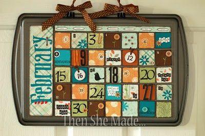 Cookie sheet calendars