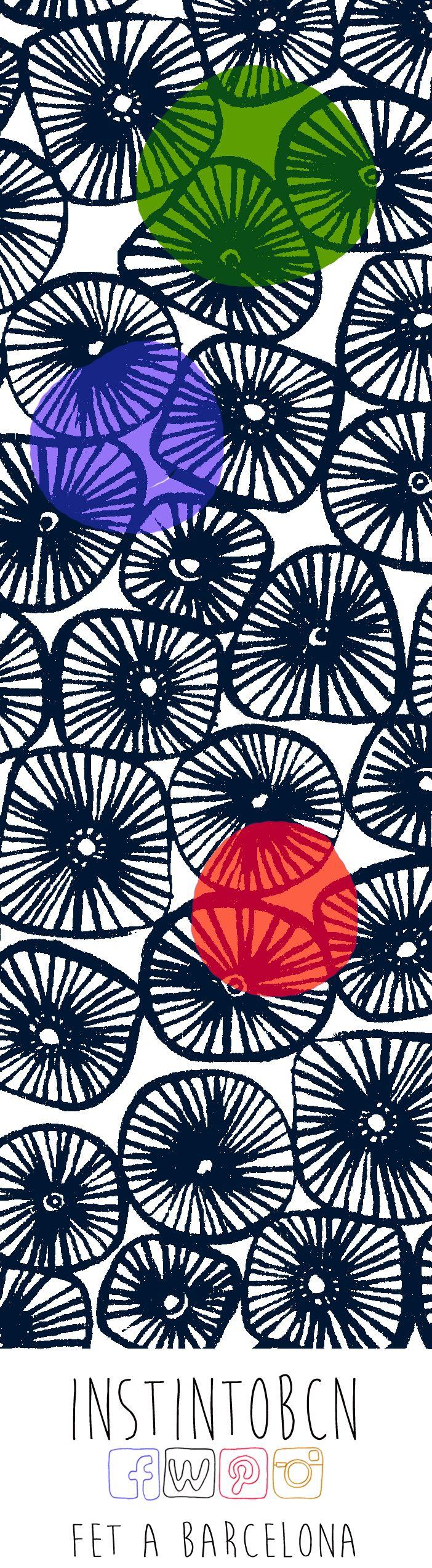 Punto de libro inspirado en la colección Dogon #Bookmark #SantJordi #Diseño