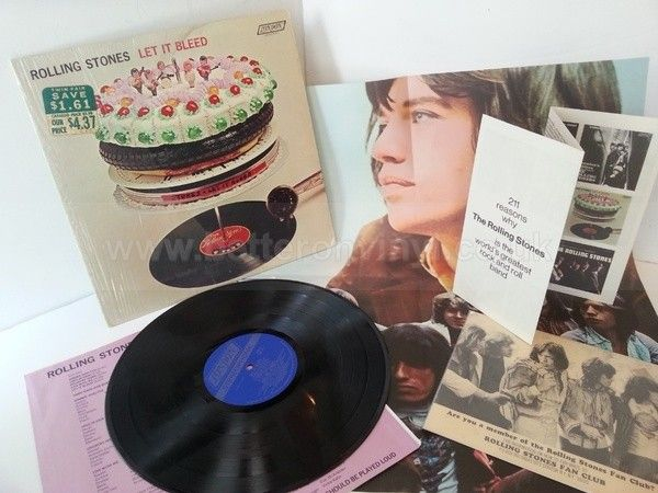 THE ROLLING STONES let it bleed, NPS 4, includes all posters and inserts - ROCK, PSYCH, PROG, POP, SHOE GAZING, BEAT