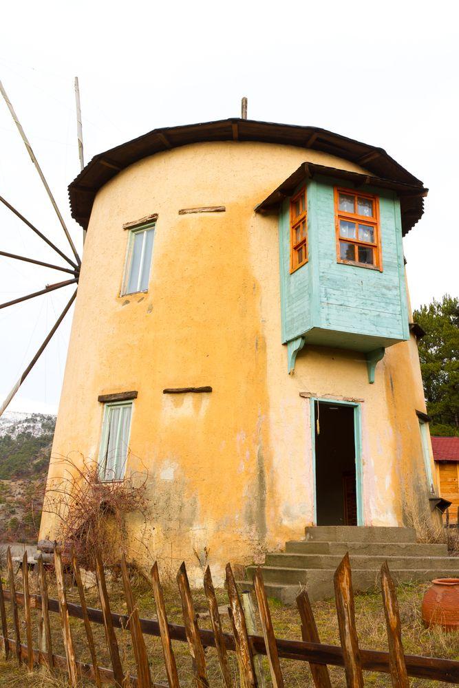 Windmill in Göynük, Bolu province #windmill #bolu