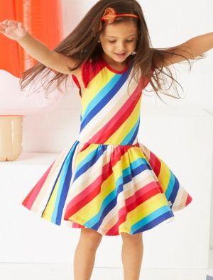Buy Hootkid Over The Rainbow Dress Rainbow