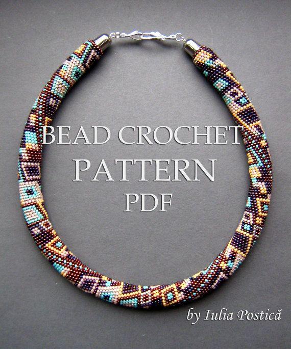 Pattern for bead crochet necklace Skyscraper / by BeadedTreasury, $9.00
