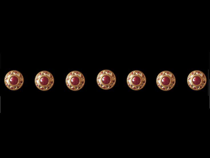 A Beautiful Set Of Sherwani Buttons In Rubies & Diamonds ...