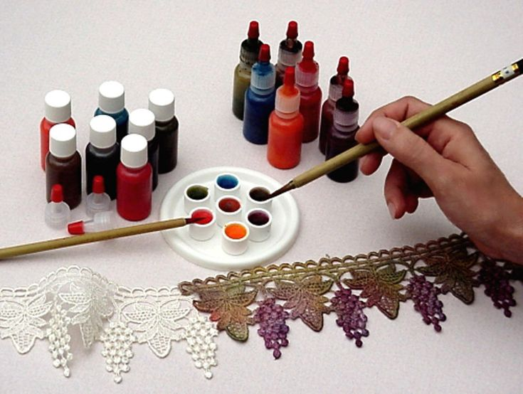 CQMagOnline.com - Dyeing Lace - perfect for crazy quilt embellishment!