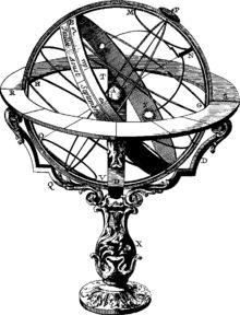 En astronomie, une sphère armillaire, aussi connue sous le nom d'astrolabe sphérique, est une modélisation basée sur la sphère céleste utilisée pour montrer le mouvement apparent des étoiles autour de la Terre et du Soleil dans l'écliptique.
