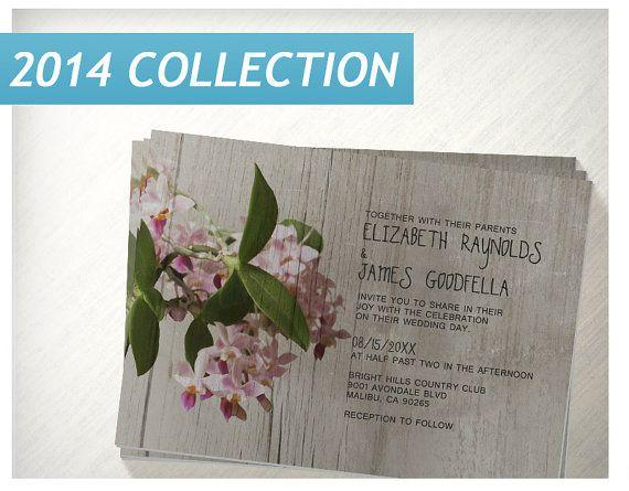 Rustic Phalaenopsis Orchid Wedding Invitations