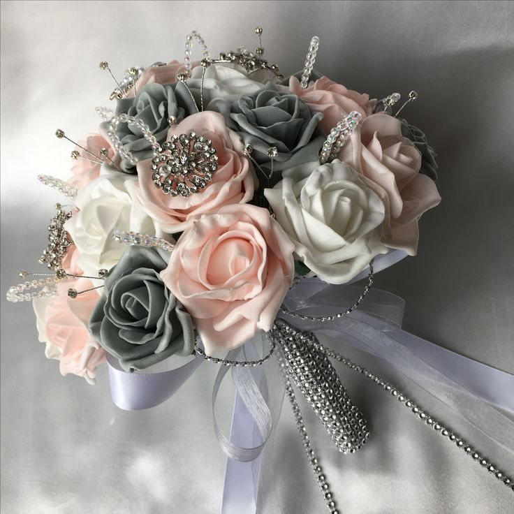 9 Best Baby Pink Grey And White Wedding Flowers Images On