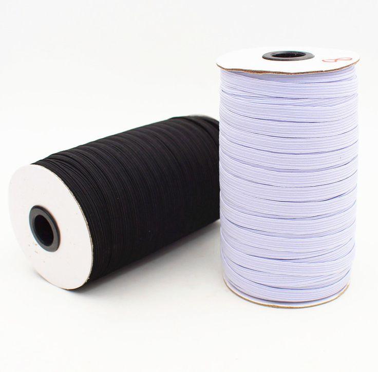 """3 מ""""מ-9 מ""""מ רוחב להקת סרט אלסטי למתוח חגורה DIY לתפירה לבן/צבע שחור 10 מטרים\חבילה"""