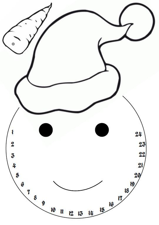 calendrier de l'Avent bonhomme de neige- jeuxdecole: