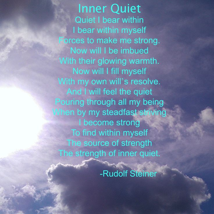 Inner Quiet   Learning, Peace and Rudolf steiner