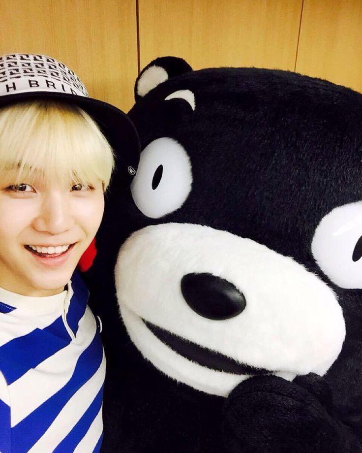 A felicidade estampada no rosto do Yoongi é demais ❤