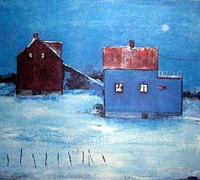 Gunn Vottestad, Norway. Hus farget av lyset nord i Norge.