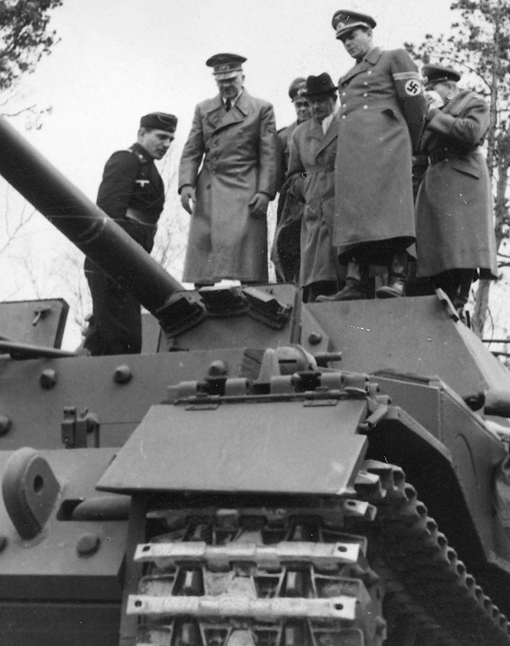 Adolf Hitler and Albert Speer on elefant.