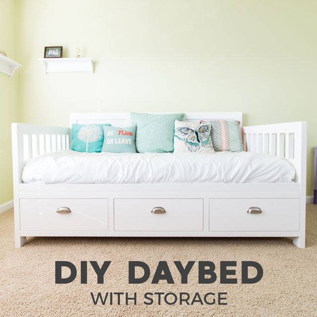 Diy Daybed With Storage Drawers Twin Size Bed Daybed With
