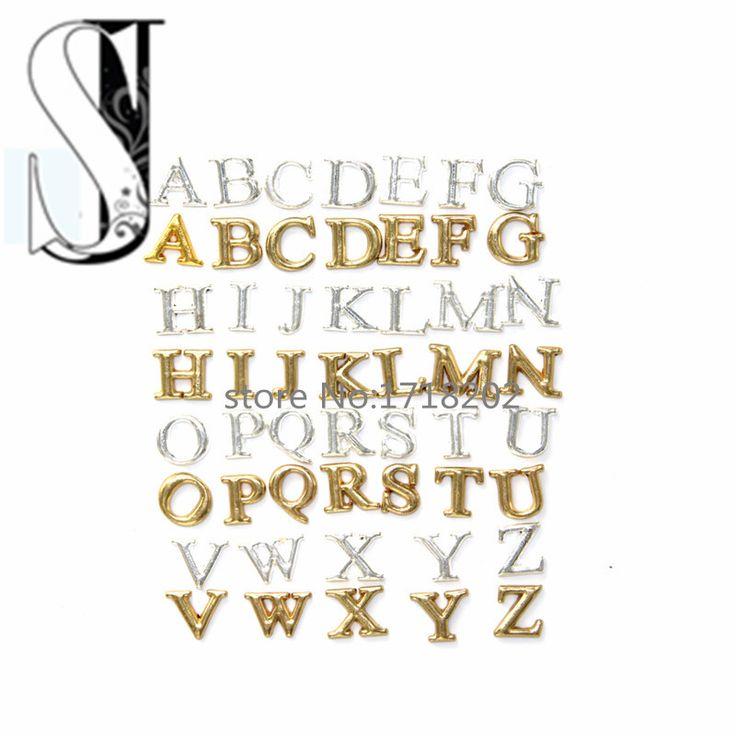 Аз начальный алфавите серебряные и золотые тона плавающие подвески для медальоны SJFC2028