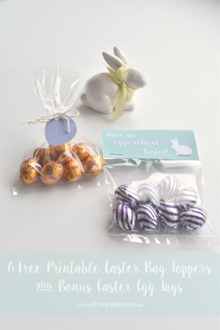 Free Printable Easter Gift Bag Toppers + Bonus Gift Tags