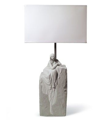 MEDITATING WOMAN LAMP I (CE)
