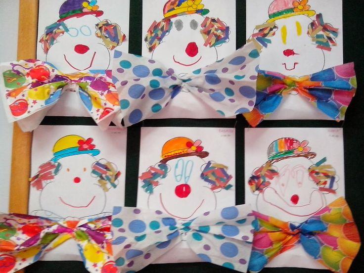 Maro 39 s kindergarten clown collage art pinterest collage clowns - Clown basteln kindergarten ...