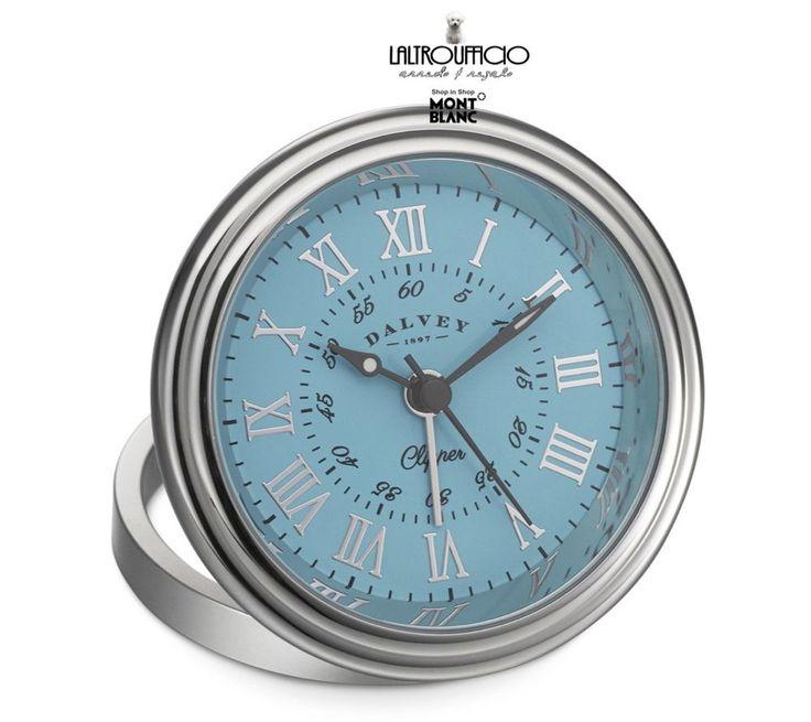 OROLOGIO/SVEGLIA 3277 DALVEY   CLIPPER CLOCK CASSA IN ACCIAIO 60MM SC10%