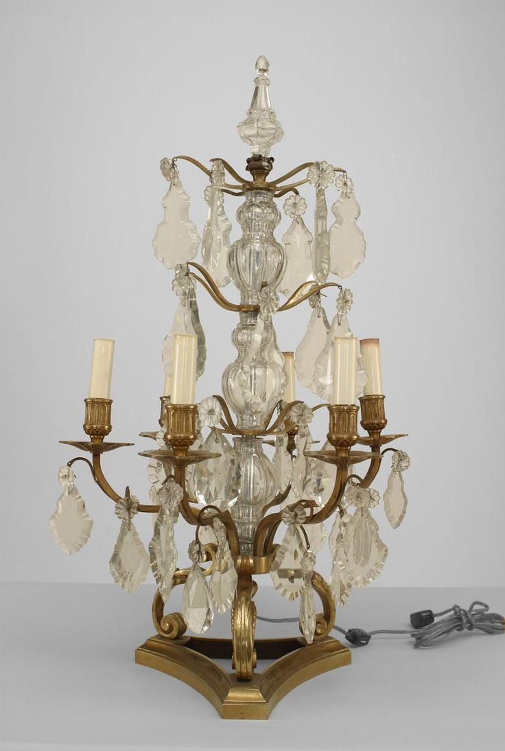 27 best girandole candelabra images on pinterest chandeliers french louis xv accessories candelabra crystal arubaitofo Gallery