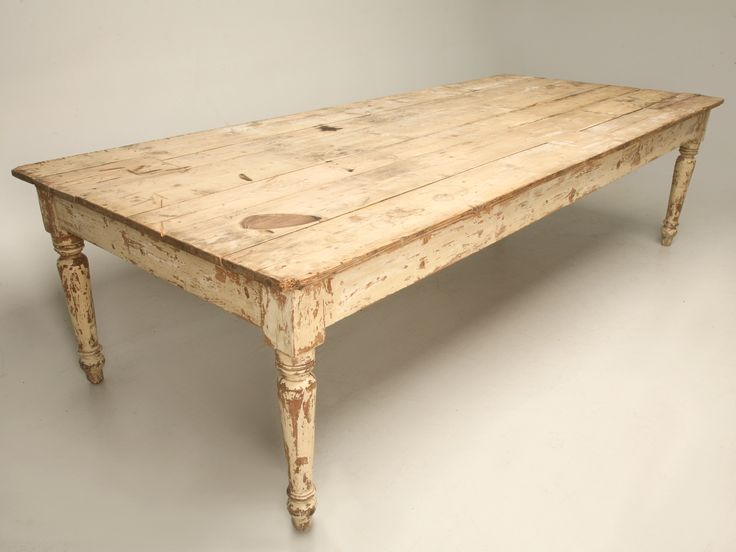 Antique scrubbed pine farm table