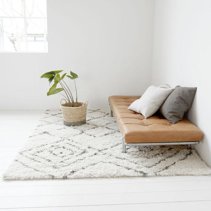 Wohnzimmer Hausarzt Textilprodukte Quadratische Teppiche Nerz Quadrate Elfenbein