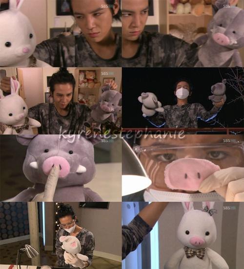 """""""Time for surgery."""" El nacimiento de cerdo-conejooo <3"""