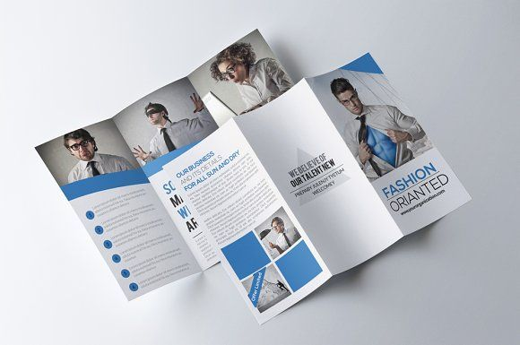 Business Trifold Brochure by Psd Templates on @creativemarket