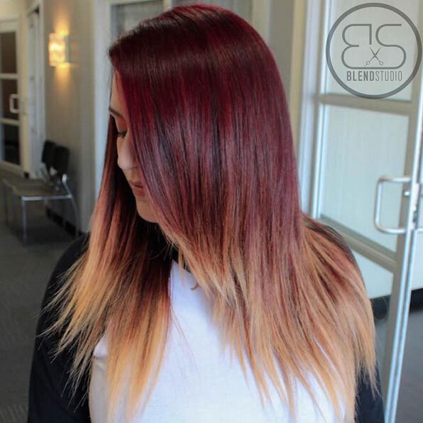 Long Layered Hairstyle for Ombre Hair