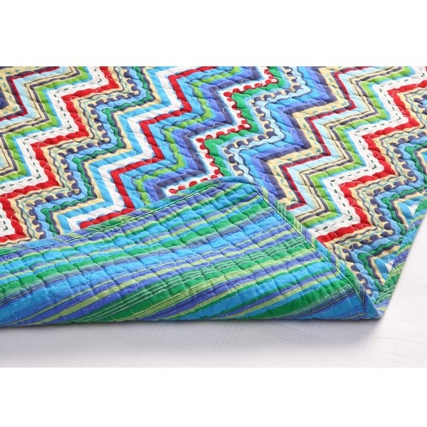 Comforter from Overstock: Quilts Inspiration, Blue Zigzag, 3Piec Quilts, Ben Rooms, Grandkids Rooms, Paige Rooms, 3 Pieces Quilts, Zigzag Quilts, Chevron Comforter Sets
