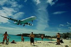 st. marteen airport beach